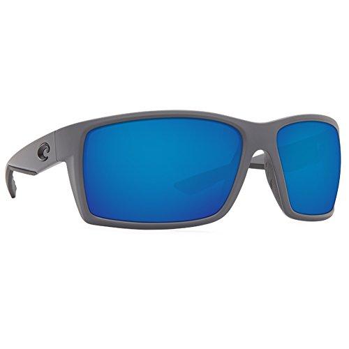 Costa del Mar Men's Reefton Polarized Iridium Rectangular Sunglasses, Matte Gray, 63.7 - Fishing For Sunglasses Costa Del Mar Best