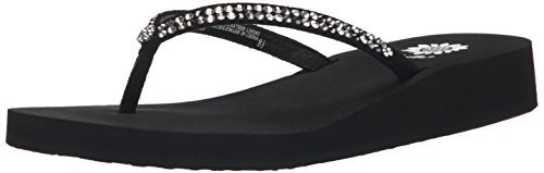 Yellow Box Women's Jello Sandal, Black Pewter, 7.5 M -