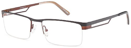 Half Rimmed 100% Stainless Steel Prescription Eyeglasses Frames Size 57-18-142 in - Steel Rimmed Glasses