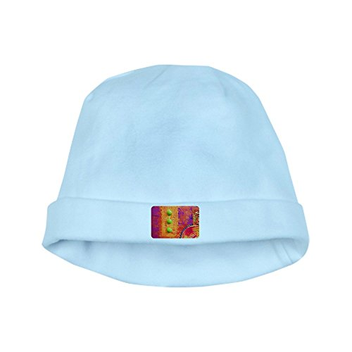 Royal Lion Baby Hat Abstract Peace Symbol Sign - Sky Blue