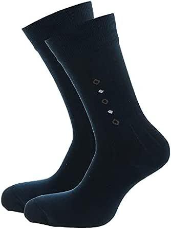 جوارب للرجال من سيلفر-سوكس لون ازرق داكن