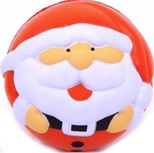 eBuyGB Pack of 1 Christmas Santa Anti Stress Play Ball, Foam, Multi-Colour 1243505a