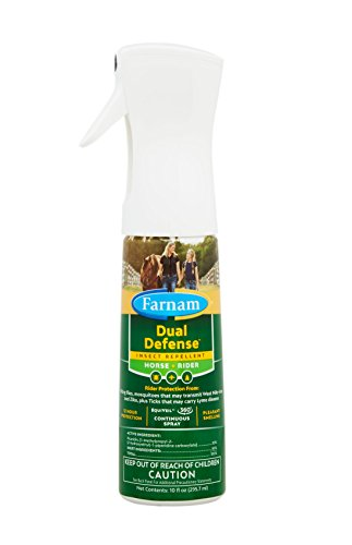 Farnam Dual Defense Insect Repellent for Horse and Rider, 12 Hour Protection, 10 oz. - 10 Hour Insect Repellent