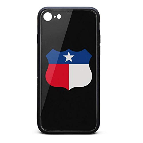 (Phone Case for iPhone 6/iPhone 6s Hippie Texas Sign Shield Tempered Glass Black Anti-Scratch TPU Rubber Bumper Shock Skin for Man Back Cover)