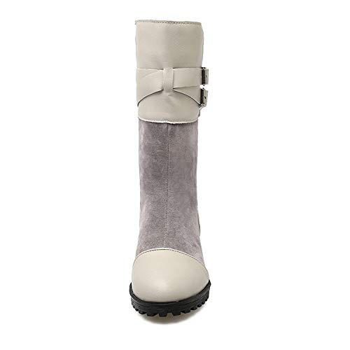 With Lining Boots warm Bootie Grey Boots Top slip Womens Waterproof Fur Winter Sx Outdoor High Non Shoes snow 1q8XpEA