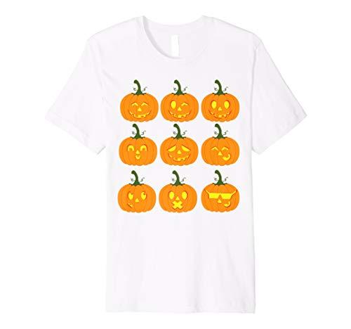 Pumpkin Emojis Halloween Shirt | Funny Carved Pumpkins -