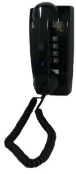 255400-Vba-20Md Wall Valueline Black - Product Description - - Cortelco Traditional Mini-Wall Phone- Value Line- Tone Dial - Single-Gong Ringer- Handset Volume Control Dial On Handset- Black With Gray Buttons- Does Not Include Flash Button Or Me ...