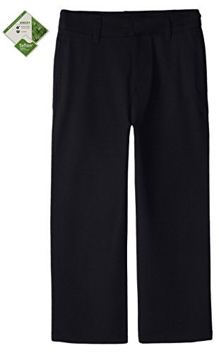 Bienzoe Boy's School Uniforms Durable Teflon Adjust Waist Flat Front Pants
