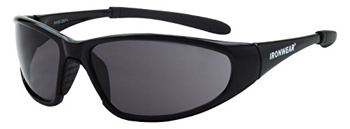 (Ironwear Stetson 3075 Series Nylon Protective Safety Glasses, Grey Anti-Fog Lens, Black Frame (3075-B/BT-G/A))