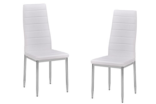 Best Master Furniture T245 Trina Modern Living Parson Chairs, Set of 2, White