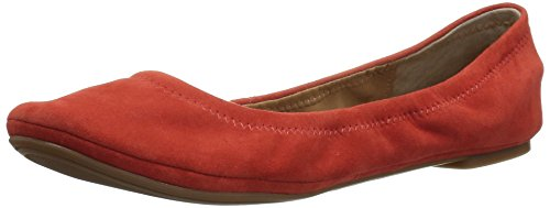 Lucky Women's LK-Emmie Ballet Flat, Aurora Red, 9.5 Medium - Apparel Aurora Red