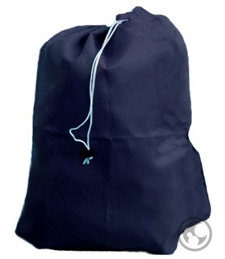 Laundry Bag, Drawstring, Locking Closure, Color: Navy Blue, Small Size: 22x28]()