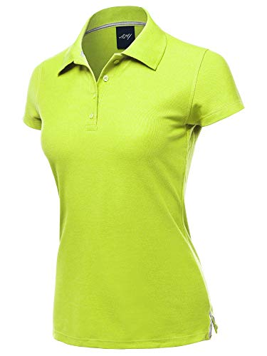 Casual 4-Button Junior-Fit PK Ring Spun Cotton Pique Polo Shirt Neon Yellow L