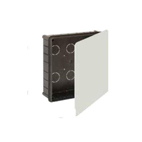 Solera 623 - Caja empalme y derivación.Instalación empotrada.Tapa garra metálica. De 150x150x50.12 entradas para tubo Ø 32.