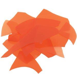 Bullseye Glass Confetti - Orange Opal - Fusible 90 COE