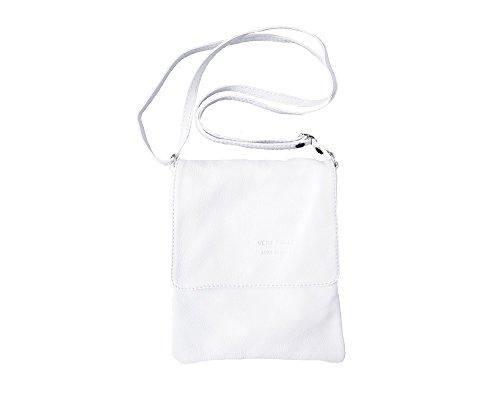 (LaGaksta Ashley Very Small Italian Soft Leather Shoulder Crossbody Bag White)