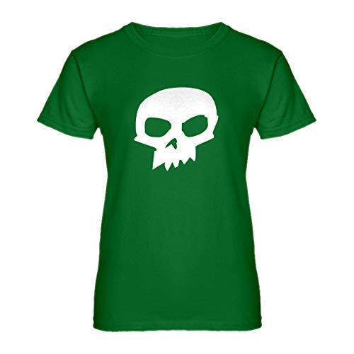 Indica Plateau Womens Sid Skull Shirt Large Kelly Green -