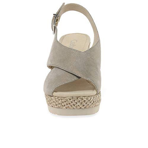 Gabor Muschel Alla Cinturino Caviglia Donna Con Basic Sandali Metallic qxwrUp4q0c