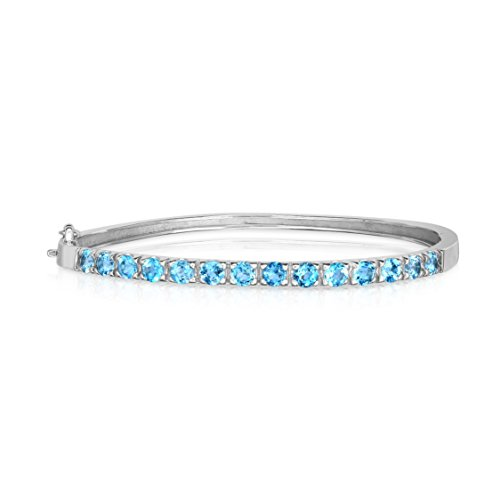 Noray Designs .925 Sterling Silver Blue Topaz (1.50 Ct) Bangle by Noray Designs