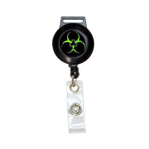 Zombie Outbreak Response Vehicle Biohazard Green Lanyard Retractable Reel Badge ID Card Holder (Zombie Badge Reel)