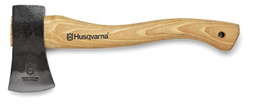 new-husqvarna-576926401-13-curved-wooden-handle-hatchet-axe-w-leather-sheath