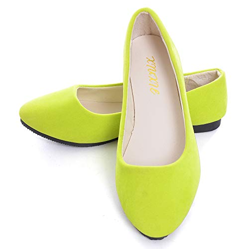 (Dear Time Women Flat Shoes Comfortable Slip on Pointed Toe Ballet Flats US 9.5)