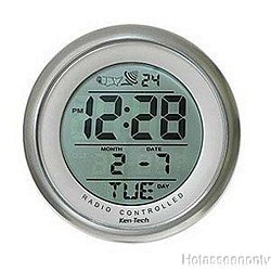 Sonnet T-4660 Water Resistant Suction Cup Atomic Clock by Ken-Tech