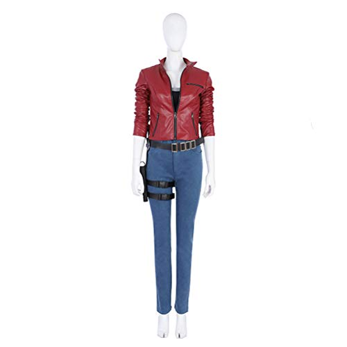 CosplayJet Women's Cosplay Costume for Resident Evil 2 Claire Redfield Full Body Suits Outfit Halloween Costumes]()