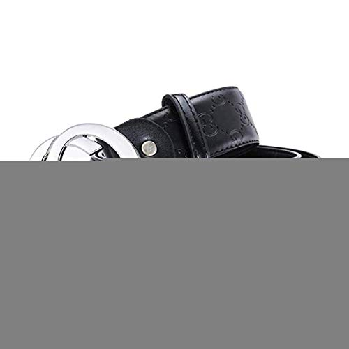 Unisex Metal - Fashion Leather Metal Buckle Unisex Men Belt Casual Business (A1, 34