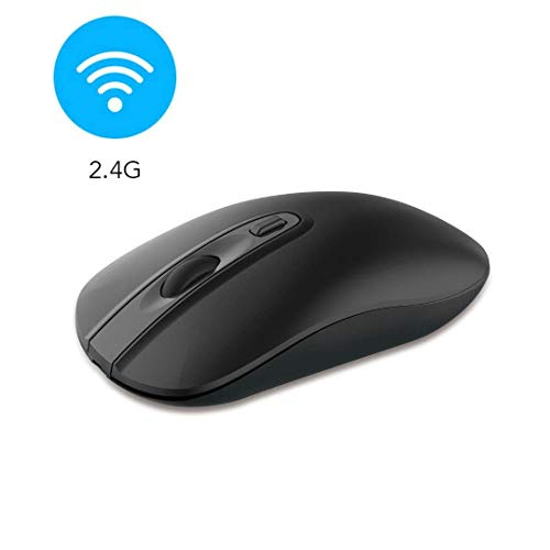 Wireless Computer Mouse, Cimetech 2.4G Slim Cordless Mouse Less Noise for Laptop Ergonomic Optical with Nano Receiver…