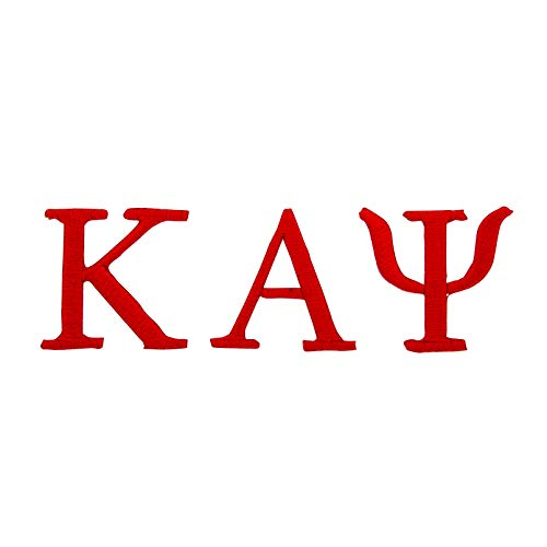 (Kappa Alpha Psi Fraternity Red Loose Letters Embroidered Appliqué Patch Sew or Iron On Greek Blazer Jacket Bag Nupe (Red Loose Letters)