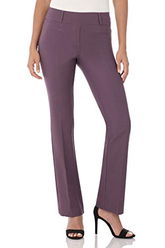 Rekucci Women's Ease in to Comfort Fit Barely Bootcut Stretch Pants (10,Mauve)