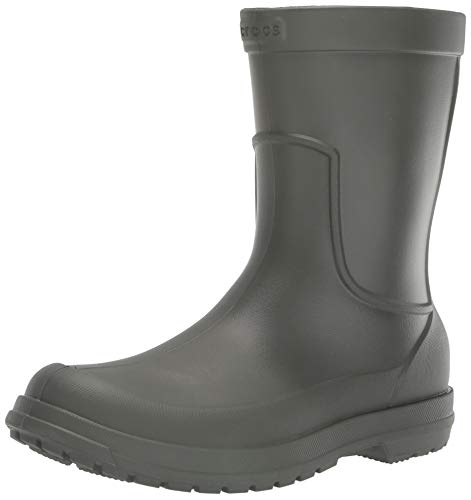 Crocs Men's AllCast Rain Boot M Dusty Olive, 10 M US