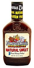 Famous Dave's Natural Sweet Gluten Free BBQ Sauce