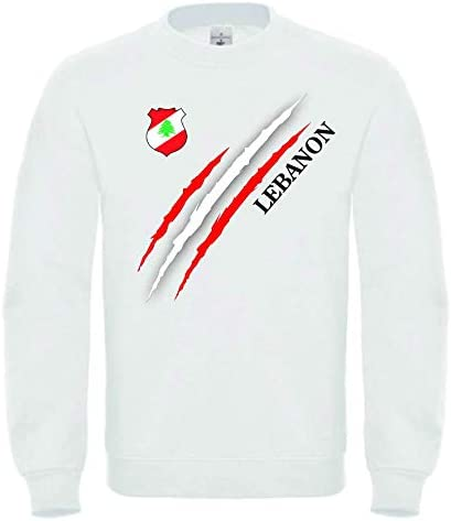 Roots Wear Libanon Männer Sweatshirt Weiß