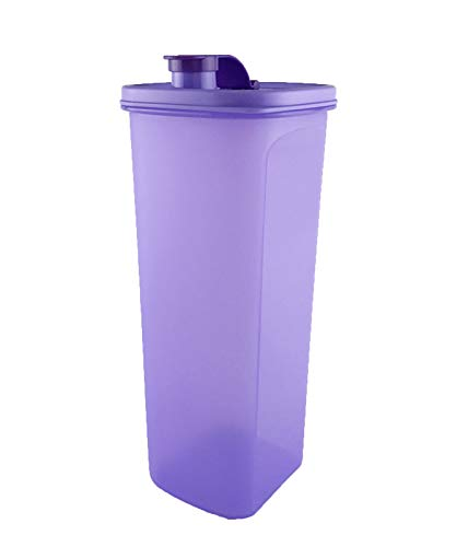 (Tupperware Purple Beverage Slim-Line Fridge Water Drink Pitcher Tumbler 2.0L)