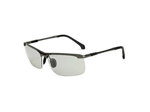 HOUHOUNNPO Praktische PanpA Dissolution Polarized Sonnenbrille fü r Mä nner Frauen (Grau)