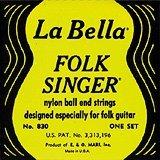 LaBella 830 Labella Folksinger Blk Treb