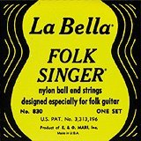 LaBella (830) String Type Folksinger Set, Black ()