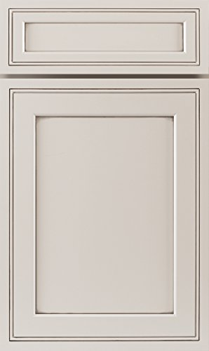 Cabinet Door Sample, J&K Cabinetry, RTA Solid Wood, Pearl White Glaze (Glaze Wood Cabinets)