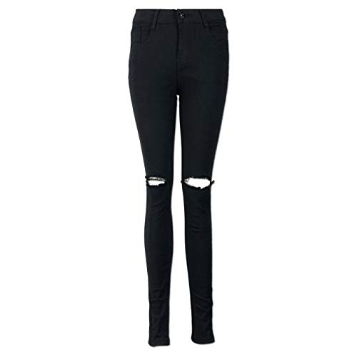 Qingsiy Pantalones Vaqueros Mujer Slim Fit, Flaco Pantalones ...