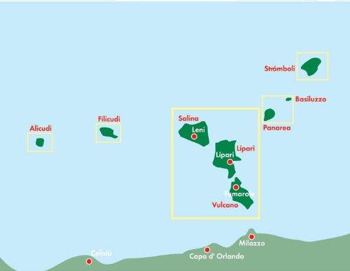 Lipari Islands Italy Road Map Freytag Berndt Road Map Amazon