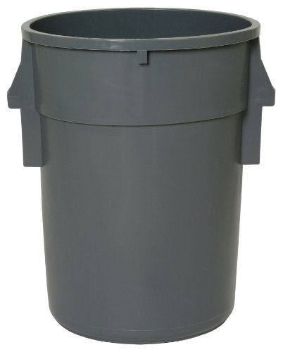 Huskee Receptacle (Continental 4410GY 44-Gallon Huskee BackSaver LLDPE Waste Receptacle, Round, Gray)