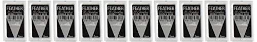 50 FEATHER Hi-Stainless Platinum Double Edge Razor Blades 5's