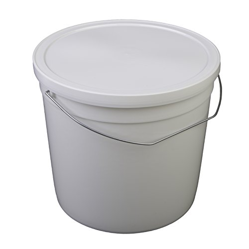 s Pail with Handle, HDPE, 6 quart, White, 10 Piece ()