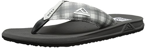 Reef Men's Phantom II Prints Flip Flop, White Plaid 14, 10 M US