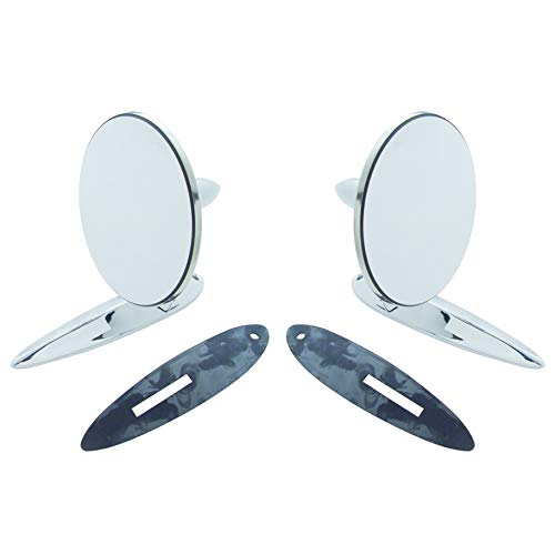 Door Chevy 55 2 - Octane Lighting Fits: 1955-1956-1957 Chevrolet Bel Air, 210, 150, Sedan Delivery & Nomad Car Exterior Outside Side Rear View Door Lens Mirror Pair (2)