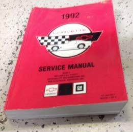 1992 Chevrolet Chevy CORVETTE Service Repair Workshop Shop Manual VOLUME 1 ONLY