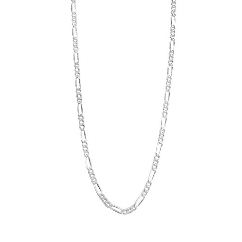 2mm Figaro Link Chain (Sterling Silve Figaro Chain Necklace Diamond-Cut Italian Made - 1.5mm - 20 inch)
