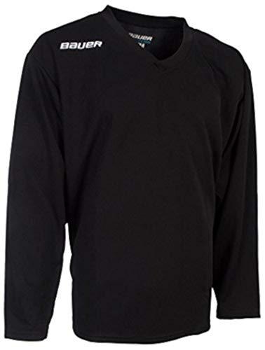 Bauer 200 Series Practice Jersey - Junior - Black - XL (Bauer Hockey Shirt With Neck Guard Youth)